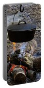Campfire Cooking Portable Battery Charger by David Lee Thompson
