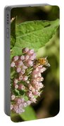 Camphorweed Wildflowers And Honey Bee Portable Battery Charger