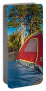 Camping In The Forest Portable Battery Charger