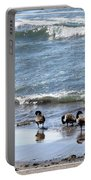 Canada Geese In Lake Erie Portable Battery Charger