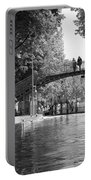 Canal Of St. Martin Bw Portable Battery Charger