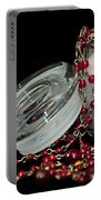 Candle And Beads Portable Battery Charger by Carolyn Marshall