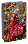 Candy Jar Spilling Candy Portable Battery Charger