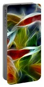 Candy Lily Fractal  Portable Battery Charger by Peter Piatt