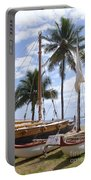 Canoes At Hui O Waa Lahaina Maui Hawaii Portable Battery Charger