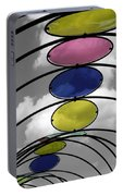 Canopy Black And White Abstract Portable Battery Charger