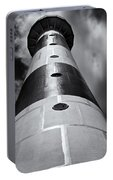 Cape Canaveral Lighthouse Black And White Portable Battery Charger