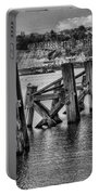 Cardiff Bay Old Jetty Supports Mono Portable Battery Charger