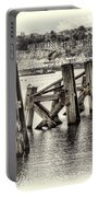 Cardiff Bay Old Jetty Supports Opal Portable Battery Charger