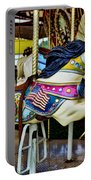 Carousel - Horse - Jumping Portable Battery Charger by Paul Ward