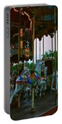 Carousel And Eiffel Tower Portable Battery Charger