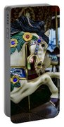 Carousel Horse 5 Portable Battery Charger by Paul Ward