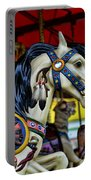 Carousel Horse 6 Portable Battery Charger by Paul Ward