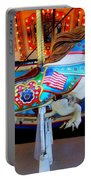 Carousel Horse With Flags Portable Battery Charger