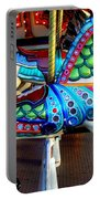 Carousel Horse With Sea Motif Portable Battery Charger