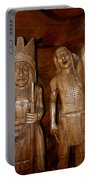 Carved American Indians Portable Battery Charger