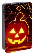 Carved Pumpkin Smiling Portable Battery Charger