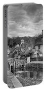 Castle Combe England Monochrome Portable Battery Charger