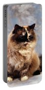 Cat Portrait Of A Cat Portable Battery Charger