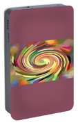 Cat's Tail In Motion. Stained Glass Effect. Portable Battery Charger