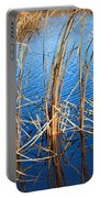 Cattail Reeds Portable Battery Charger by Ms Judi