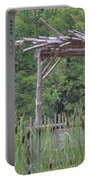 Cattails In The Garden Portable Battery Charger