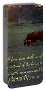 Cattle On A Thousand Hills Portable Battery Charger