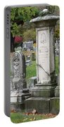 Cemtery Cracked Tombstones Portable Battery Charger