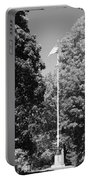 Central Park Flag In Black And White Portable Battery Charger