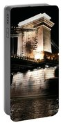 Chain Bridge At Night Portable Battery Charger