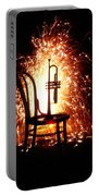 Chair And Horn With Fireworks Portable Battery Charger