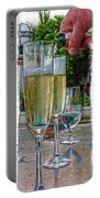 Champagne At The Beach Portable Battery Charger