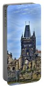 Charles Bridge And Church Dome Portable Battery Charger