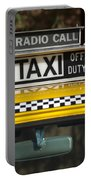 Checker Taxi Cab Duty Sign 2 Portable Battery Charger