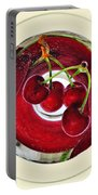 Cherries In A Wine Glass Portable Battery Charger