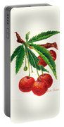 Cherries On A Branch Portable Battery Charger