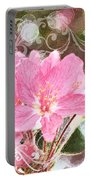 Cherry Blossom Art With Decorations Portable Battery Charger