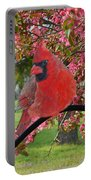 Cherry Blossom Cardinal  Portable Battery Charger