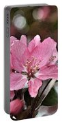 Cherry Blossom Photo Art And Blank Greeting Card Portable Battery Charger