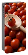 Cherry Tomatoes And Wooden Spoon Portable Battery Charger
