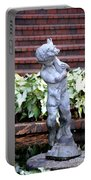 Cherub At The Pond Portable Battery Charger