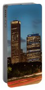 Chicago Business District At Dusk Portable Battery Charger