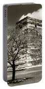 Chichen Itza Blk And White Portable Battery Charger