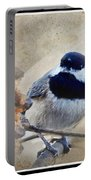 Chickadee Breakfast With Decorations Portable Battery Charger