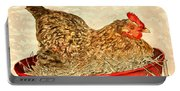 Chicken Hen Painting Art Print Portable Battery Charger