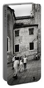 Children At Play In A Venice Piazza Portable Battery Charger