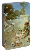 Children By The Mediterranean  Portable Battery Charger