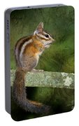 Chipmunk In The Forest Portable Battery Charger