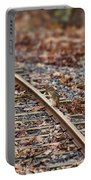 Chipmunk On The Railroad Track Portable Battery Charger