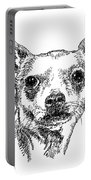 Chiwawa-portrait-drawing Portable Battery Charger
